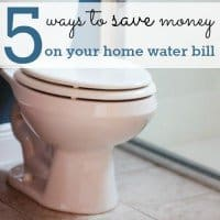 5 Ways to Save Money on Your Home Water Bill