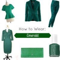 How to Wear: Emerald