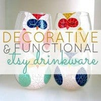 Decorative and Functional Etsy Drinkware