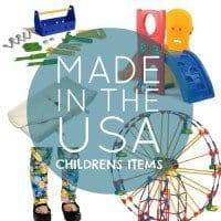 Made in the usa childrens items