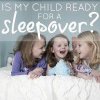 is my child ready for a sleepover