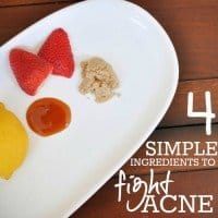 4 Simple Ingredients to FIGHT Acne