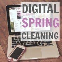 digital spring cleaning