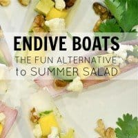 Endive Boats-The Fun Alternative To Summer Salad