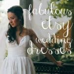 Fabulous Etsy Wedding Dresses