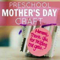 Preschool Mothers Day Craft