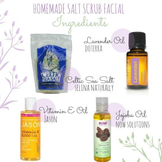 homemade salt scrub facial ingredients