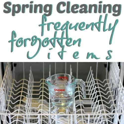 Spring Cleaning: Frequently Forgotten Items