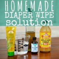 Homemade Diaper Wipe Solution