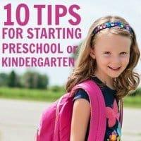 tips for starting preschool kindergarten
