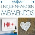 unique newborn mementos
