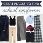 great places to find school uniforms