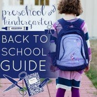preschool and kindergarten must haves for back to school