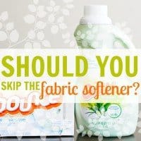 Should You Skip the Fabric Softener