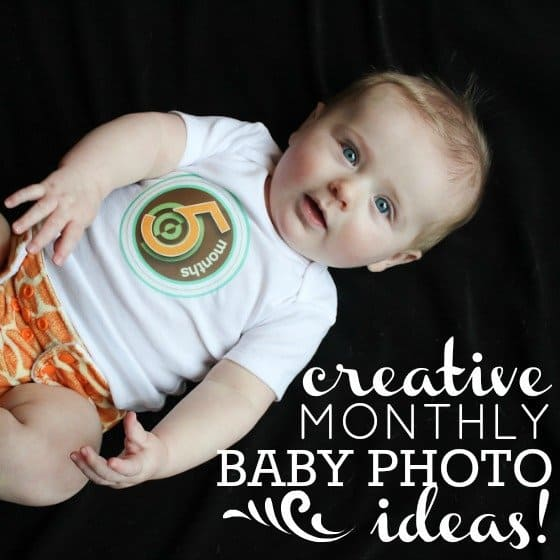Baby 39 s 1st year creative monthly baby photo ideas daily mom for Daily photo ideas