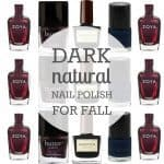 Dark natural nail polish for fall