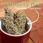 rosemary flax parmesan crackers
