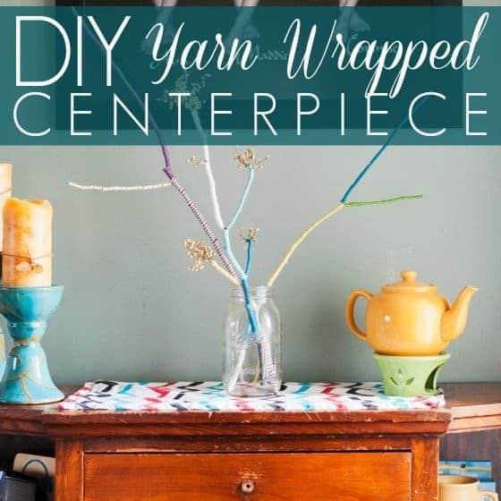 DIY Yarn Wrapped Centerpiece