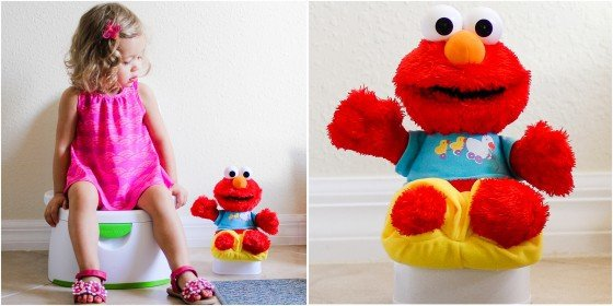 Cool Elmo will tell your little one when he us thirsty and after he us drinking that he needs to use the potty Your child will see Elmo using the potty and