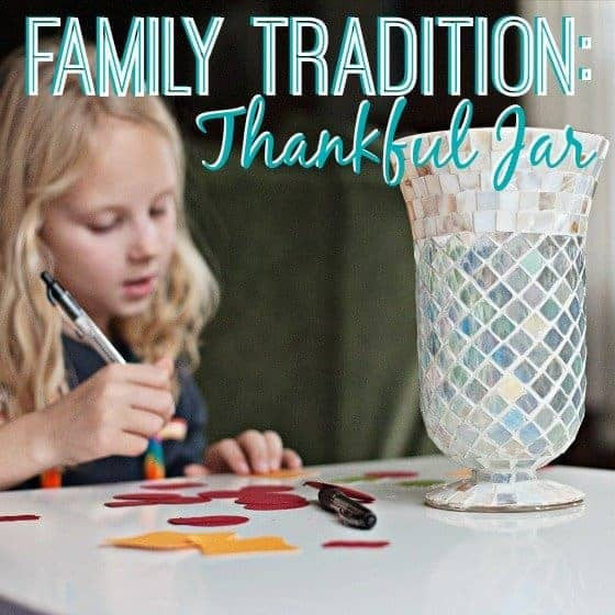 Family Tradition: Thankful Jar