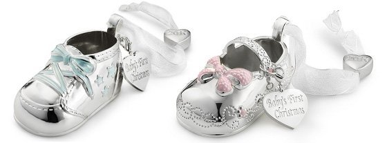Baby keepsakes to last a lifetime daily mom its never too early to buy babys first christmas ornament these beautiful silver plated 3d bootie ornaments are actually simple and pretty enough to negle Choice Image