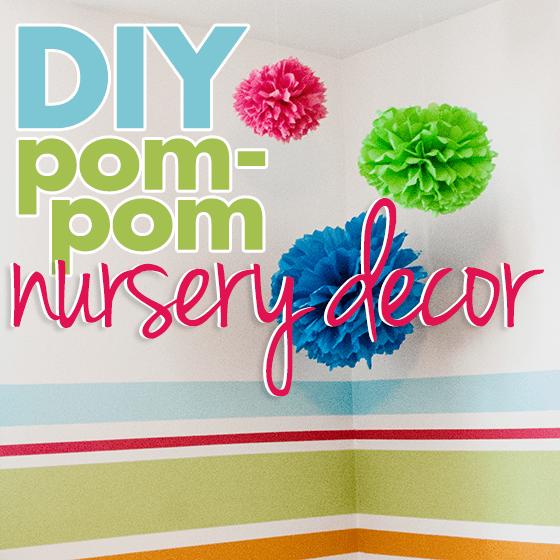 Diy pom pom nursery decor daily mom for Pom pom room decor