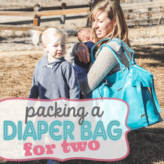 Packing a Diaper Bag for 2