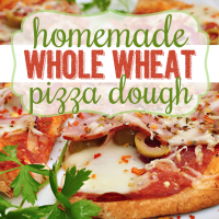 Homemade Whole Wheat Pizza Dough