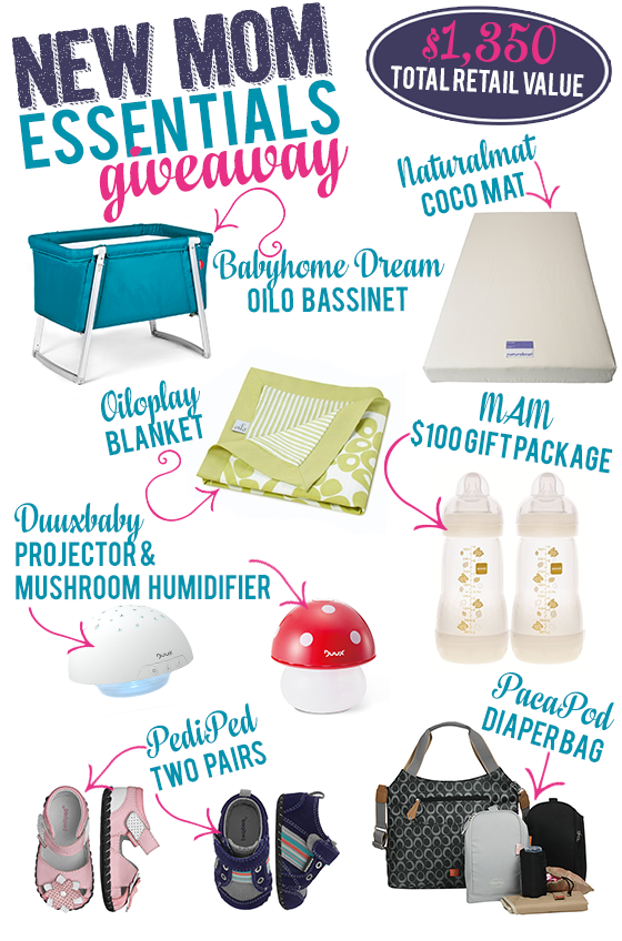 New Mom Essentials Giveaway Collage