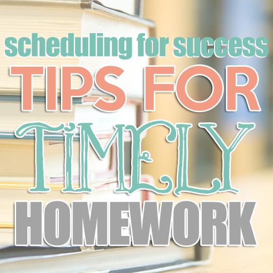 Scheduling homework