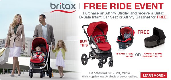 britax affinity stroller giveaway daily mom. Black Bedroom Furniture Sets. Home Design Ideas