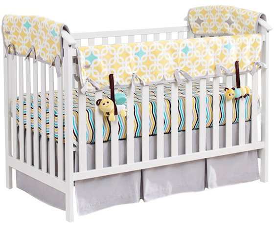 Luxury This organic bedding set from Babee Talk has it all Besides the beautiful colors and organic fabrics it includes a unique crib side rail cover