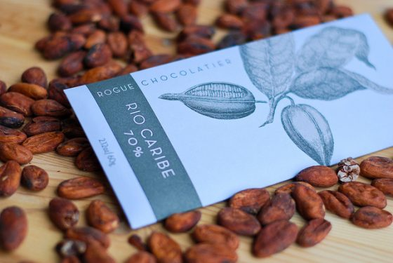 cocolate with cacao beans