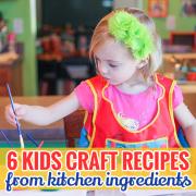 6 kids craft recipes from kitchen ingredients