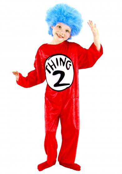 join your kids in a little fun as they bounce around like thing one and thing two for halloween night