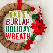 DIY Burlap Holiday Wreath