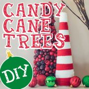 DIY Yarn Candy Cane Tree