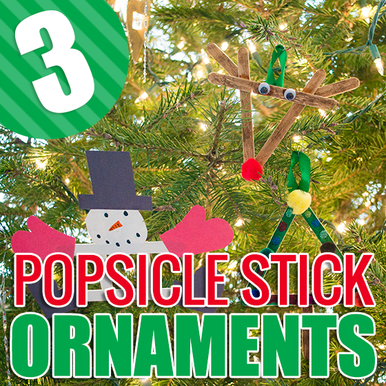 3 Popsicle Stick Ornaments