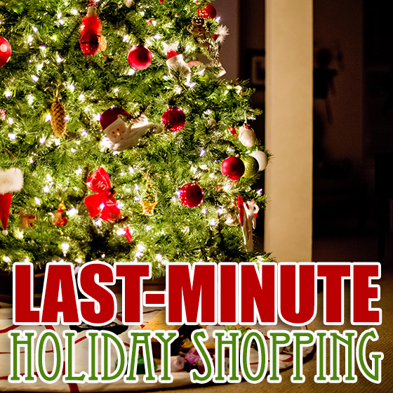 Last minute holiday shopping ideas available on amazon for Week end last minute