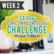31 Day Organization Challenge House Edition Week 2