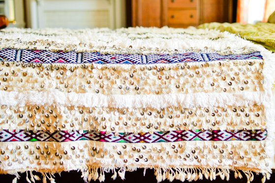 Elegant Moroccan wedding blankets make beautiful bed covers wall hangings and headboards On display across a bed it can symbolize a long term mitment