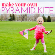 make your own pyramid kite