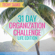 31 Day Organization Challenge Life Edition Techy Tasks