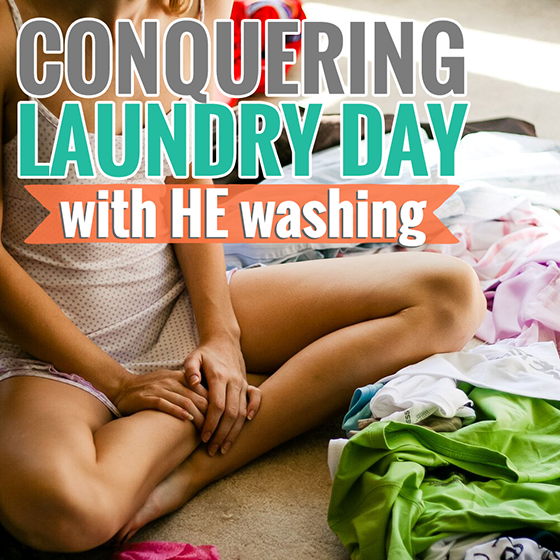Conquer Laundry Day with HE Washing