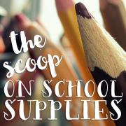 The Scoop On School Supplies