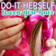Do-It-Herself Tween Girl Hair. 2