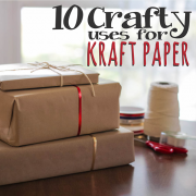 10 Crafty Uses for Kraft Paper 2