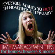 Everyone Wants to Quit in November and February Time Management Tips for homeschoolers and more 1
