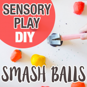 Smashing Balls, DIY Sensory Play 5