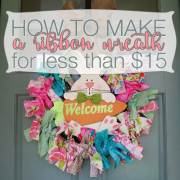How to Make a Ribbon Wreath for Less than $15